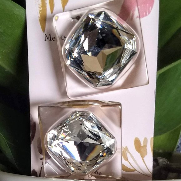 3/$25 sparkly crystal square statement earrings